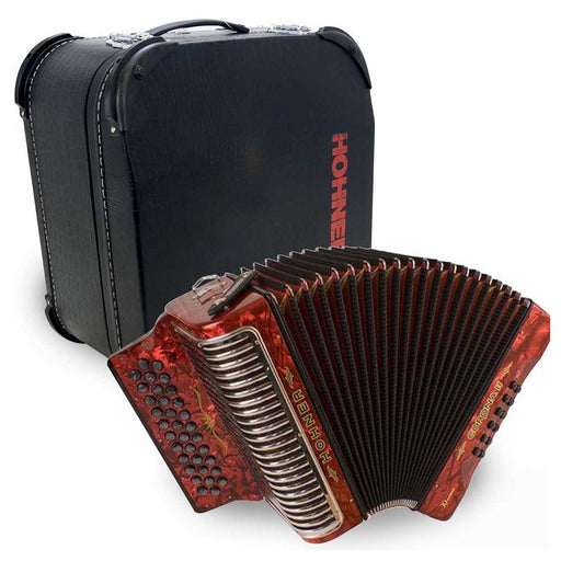 Hohner Corona II Xtreme FBE Red with Deluxe Case
