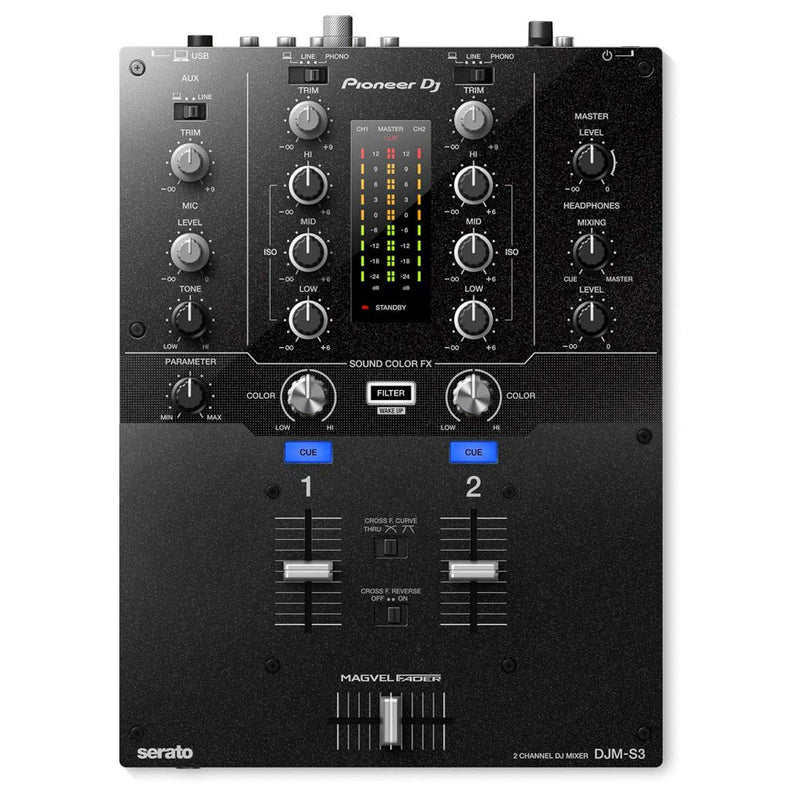 Pioneer DJM-S3 2-Channel Mixer for Serato DJ