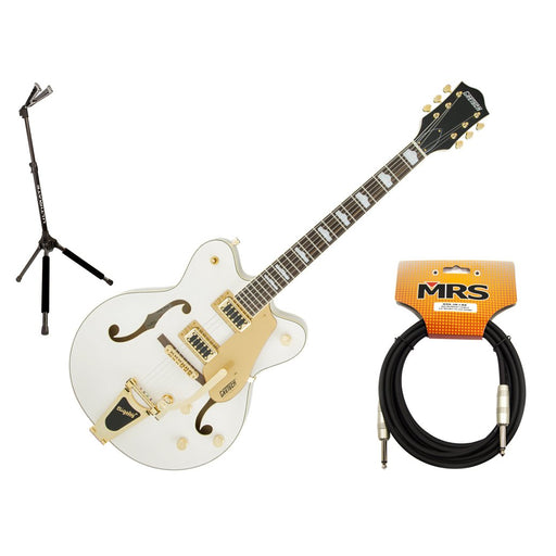 Gretsch G5422TDCG Electric Guitar with Stand and Cable Bundle