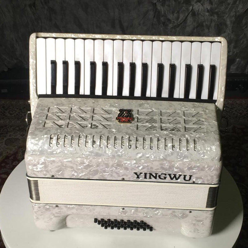 YingWu Piano Accordion 34 Key/72 Bass White