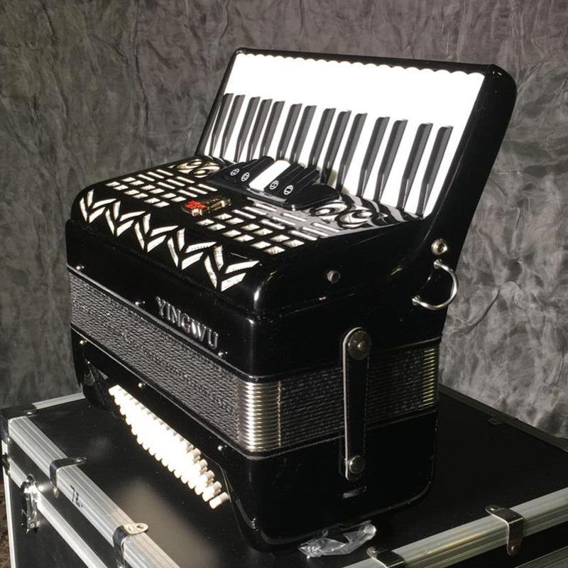 YingWu Piano Accordion 34 Key/72 Bass Black