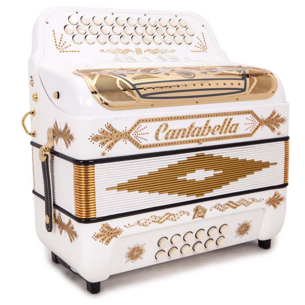 Cantabella Rey II EAD - 5 Switches White with Gold Designs