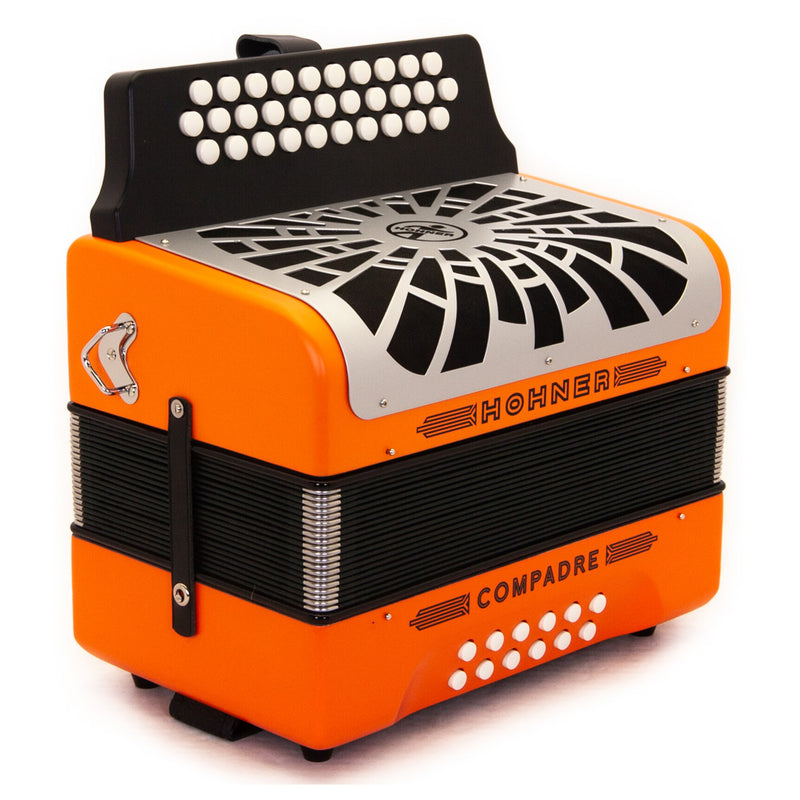 Hohner Compadre FBE Orange with Matte Gray Grill and Deluxe Case