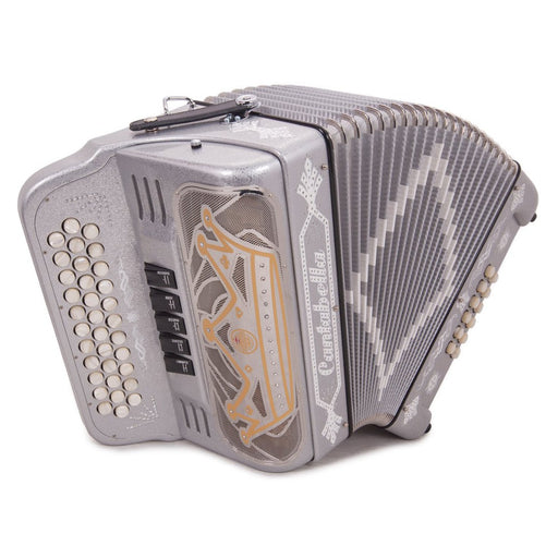 Cantabella Rey II GCF - 5 Switches Silver Glitter Accordion