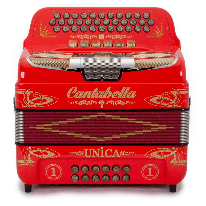Cantabella Única 6 Switches FBE and EAD Red with Gold Designs