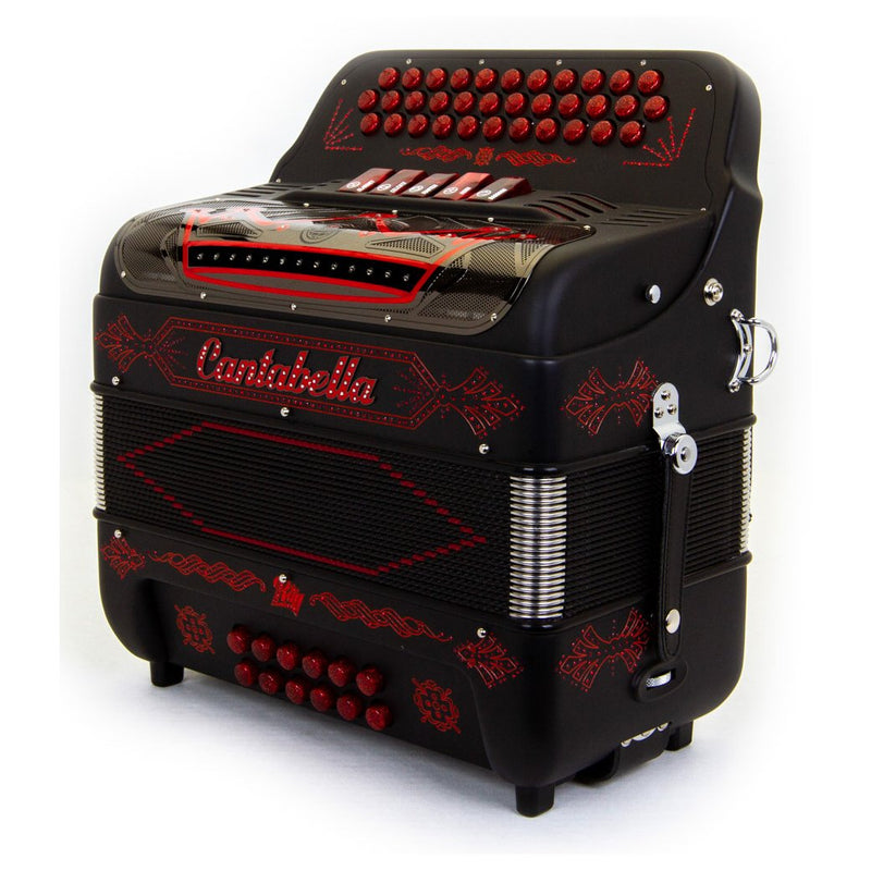 Cantabella Rey II FBE - 5 Switches Matte Black with Red