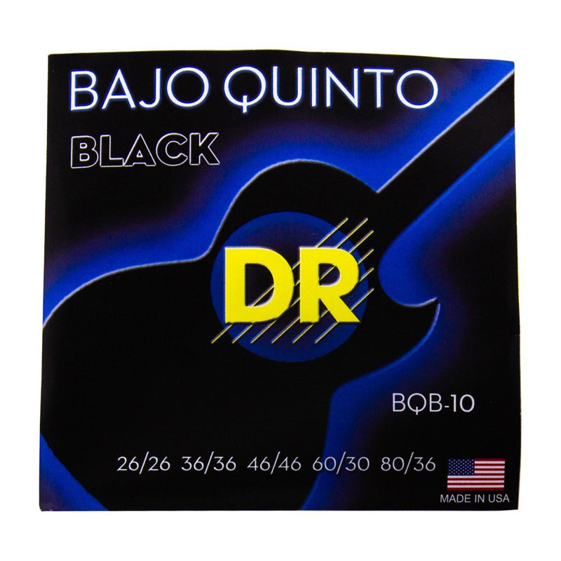Dr Strings BQB-10 Strings for Bajo Quinto Black