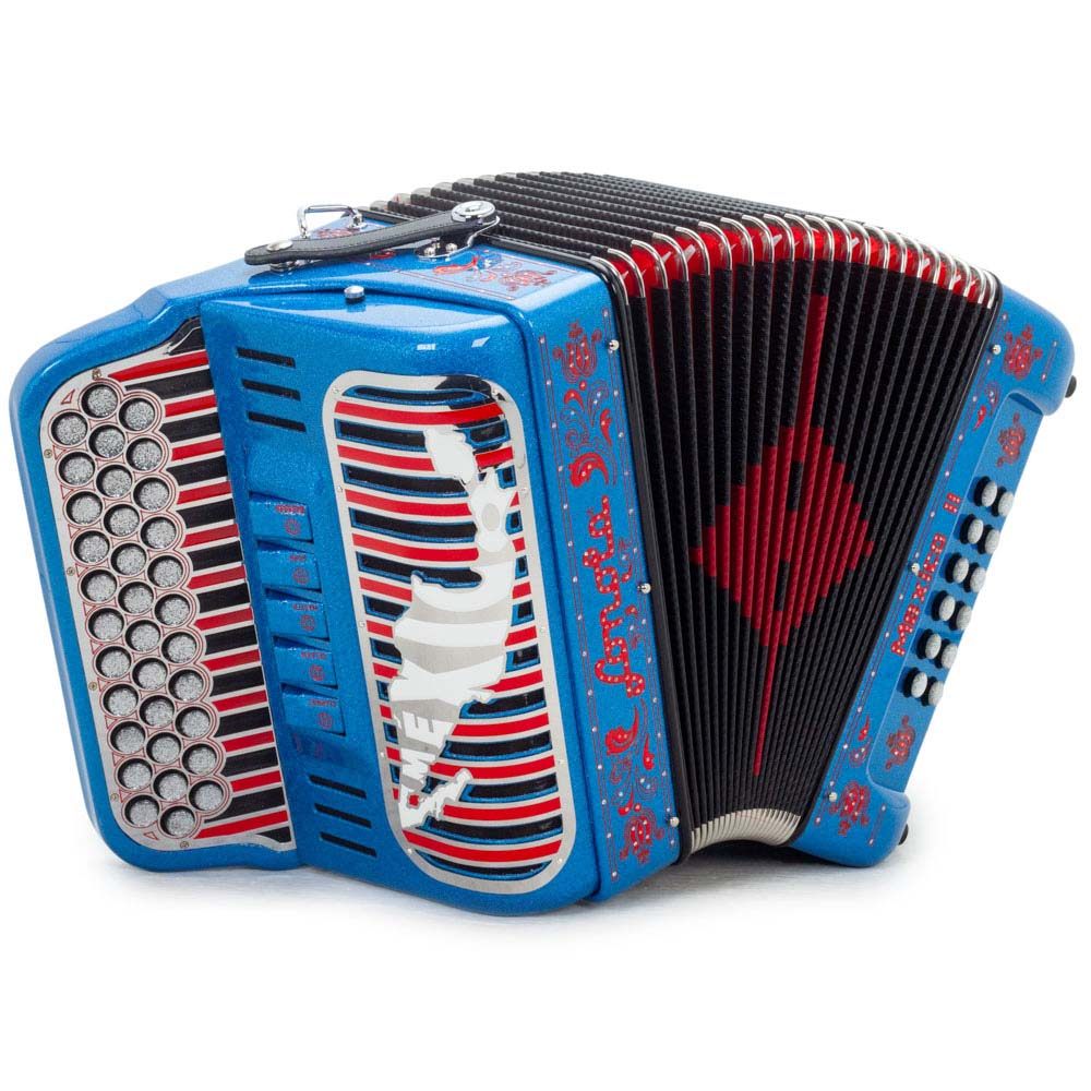Sonola Mexico II Accordion 5 SW EAD Blue-Red Designs