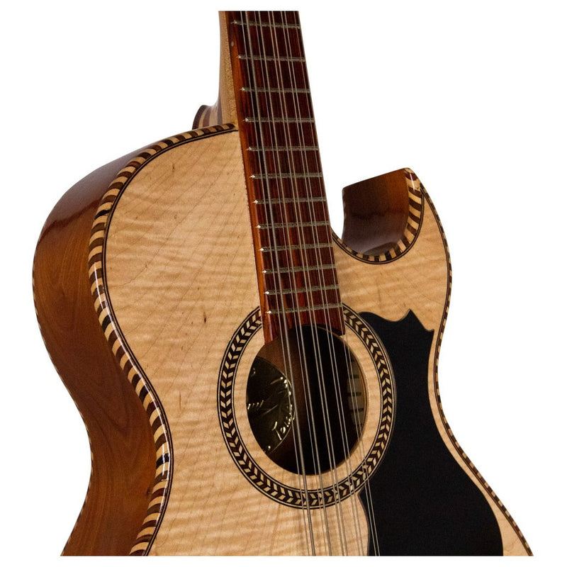 Bajo Quinto Manriquez Cedar wood with Maple Flame Top