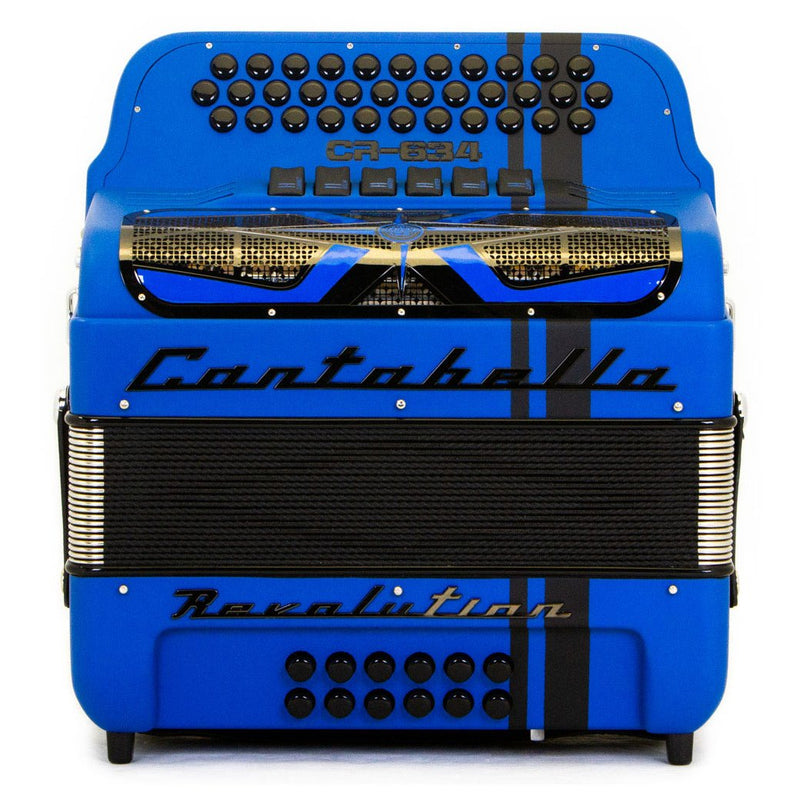 Cantabella Revolution 634 FBE and EAD Matte Blue- 2 Tone 6 Switches