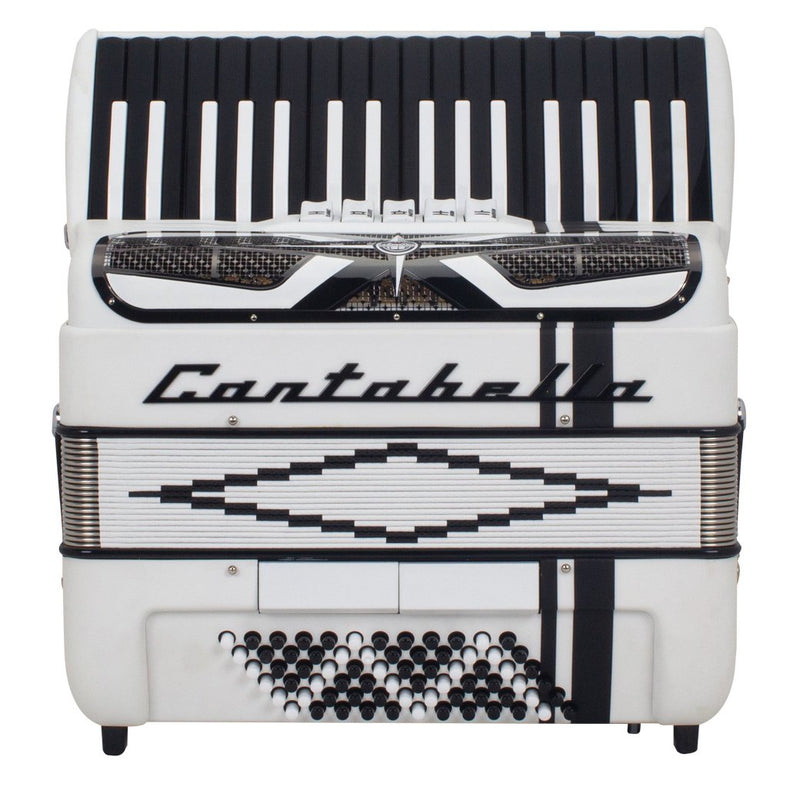Cantabella Rey Chromatic Accordion 5 Switch White