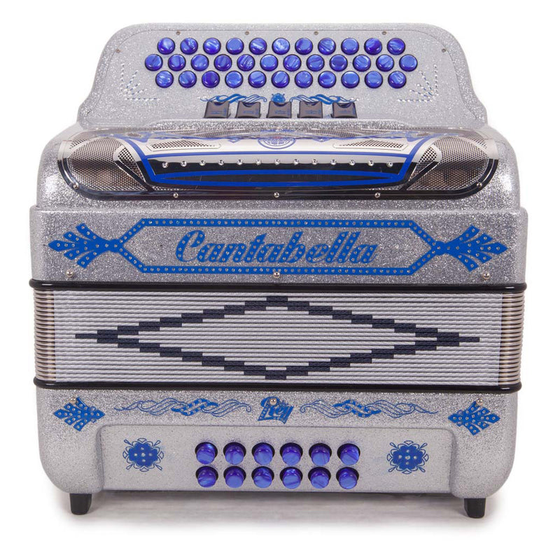Cantabella Rey II GCF - 5 Switches Silver with Blue Designs
