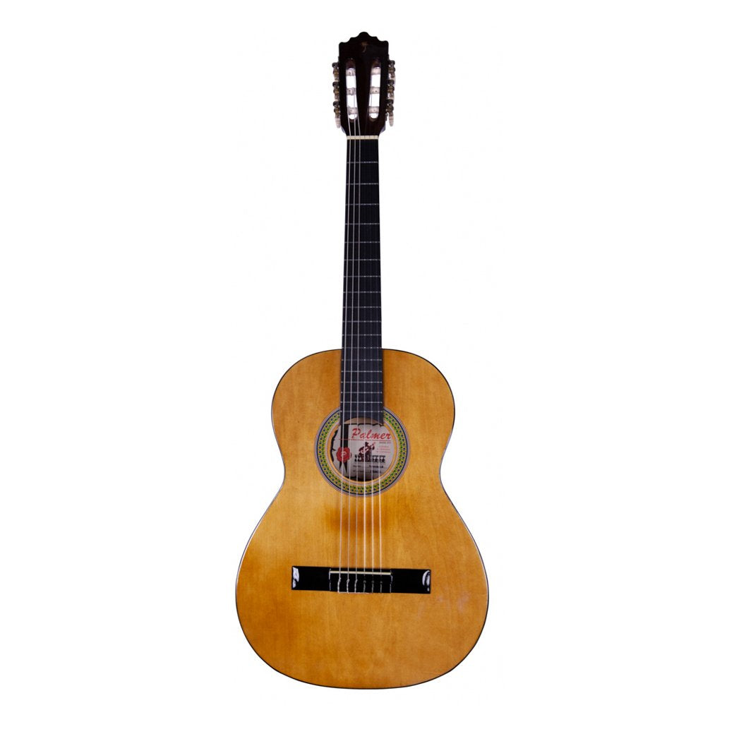 Palmer 3/4 Classical Guitar Light Brown with Tuner and Bag