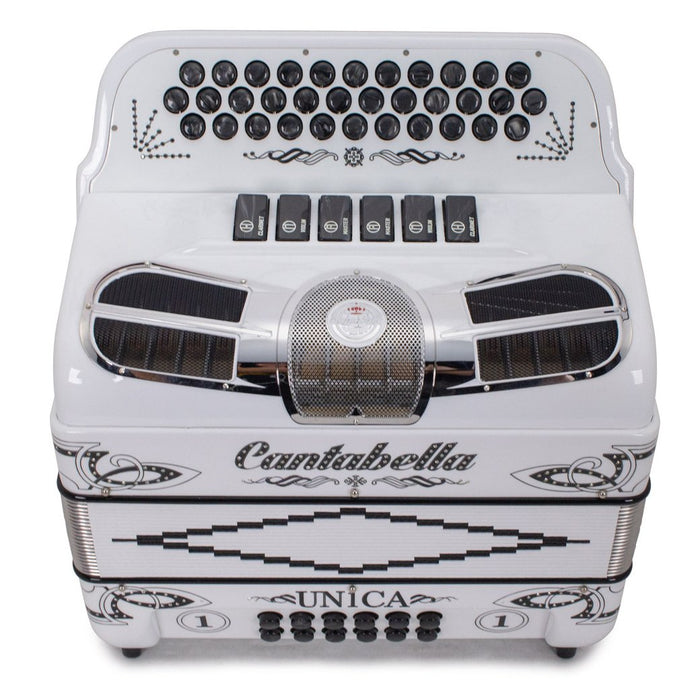 Cantabella Única 6 Switches FBE and EAD White with Black Designs