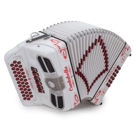 Cantabella Única 6 Switches FBE and EAD White with Red Designs