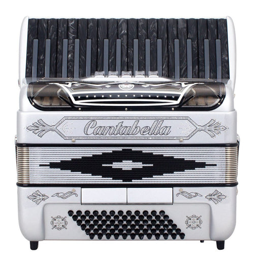 Cantabella Rey Chromatic Accordion 5 Switch Silver and Black