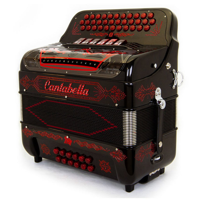 Cantabella Rey II FBE and EAD - 6 Switches Black with Red Designs