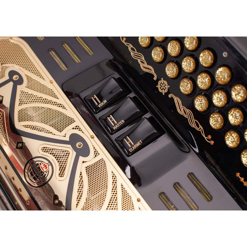 Cantabella Rey II FBE - 3 Switches Black with Gold Design