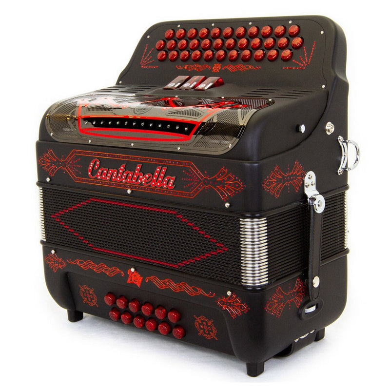 Cantabella Rey II EAD - 3 Switches Black Matte and Red