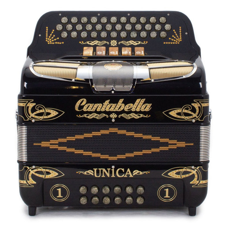 Cantabella Única 5 Switches GCF Black with Gold Designs