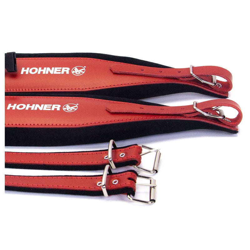 Hohner Extra Large Accordion Straps - Red with Black