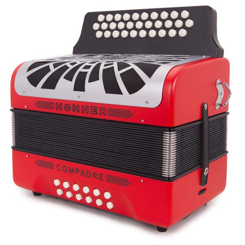 Hohner Compadre FBE Red with Matte Gray Grill Wireless Bundle