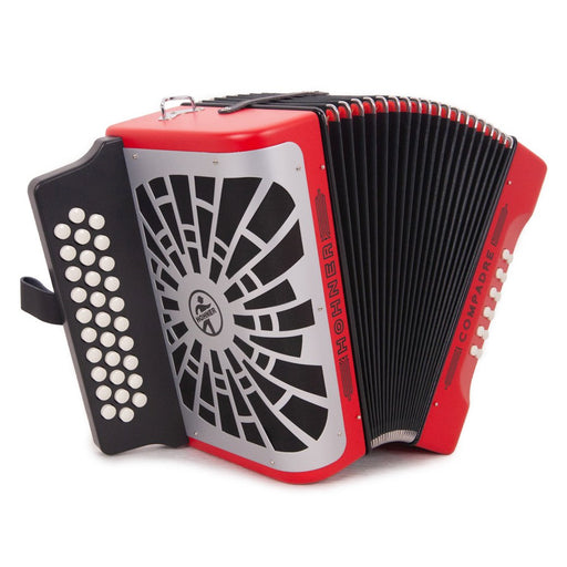 Hohner Compadre FBE Red with Matte Gray Grill