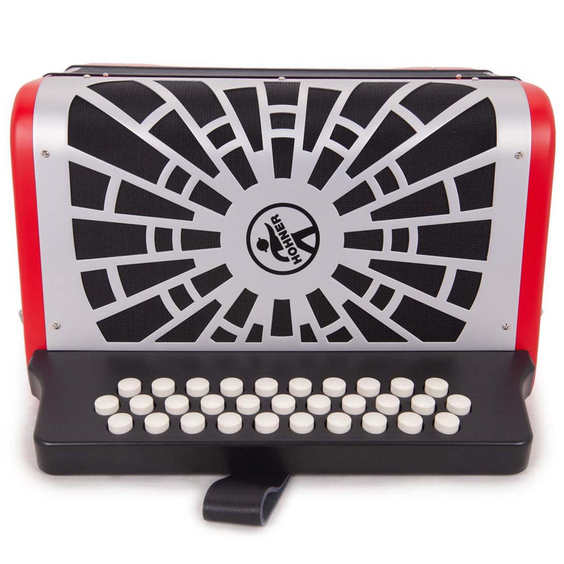 Hohner Compadre FBE Red with Matte Gray Grill and Deluxe Case