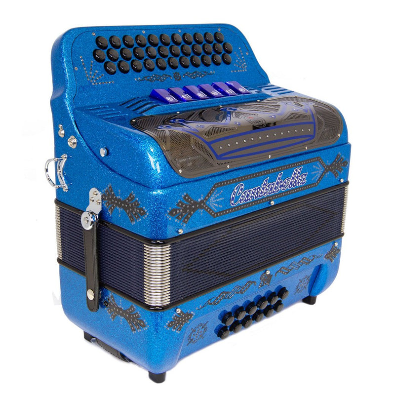 Cantabella Rey EAD and FBE 6 Switches Blue Sparkle