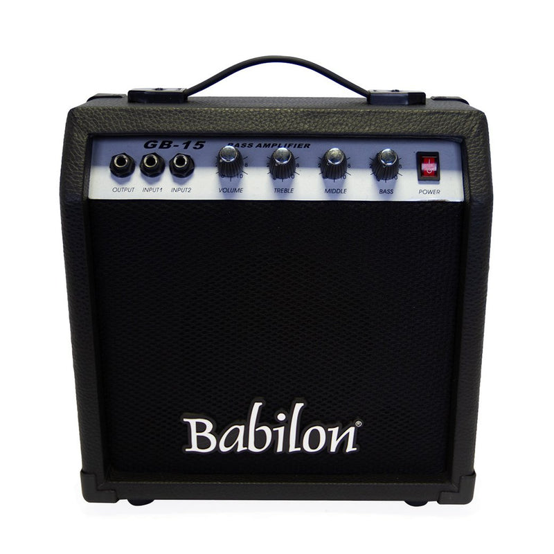 Babilon Electric Bass Guitar Bundle Black