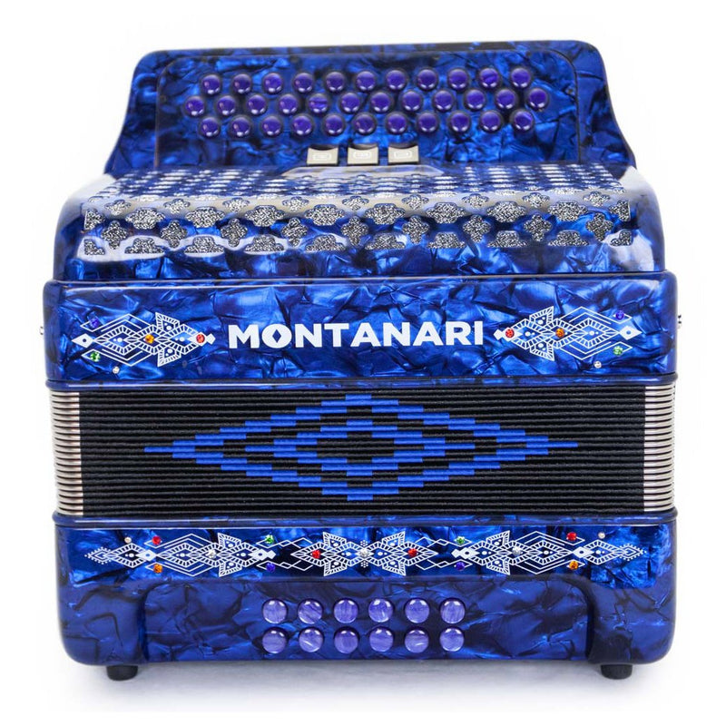 Montanari 3412 3S Accordion FBE Blue
