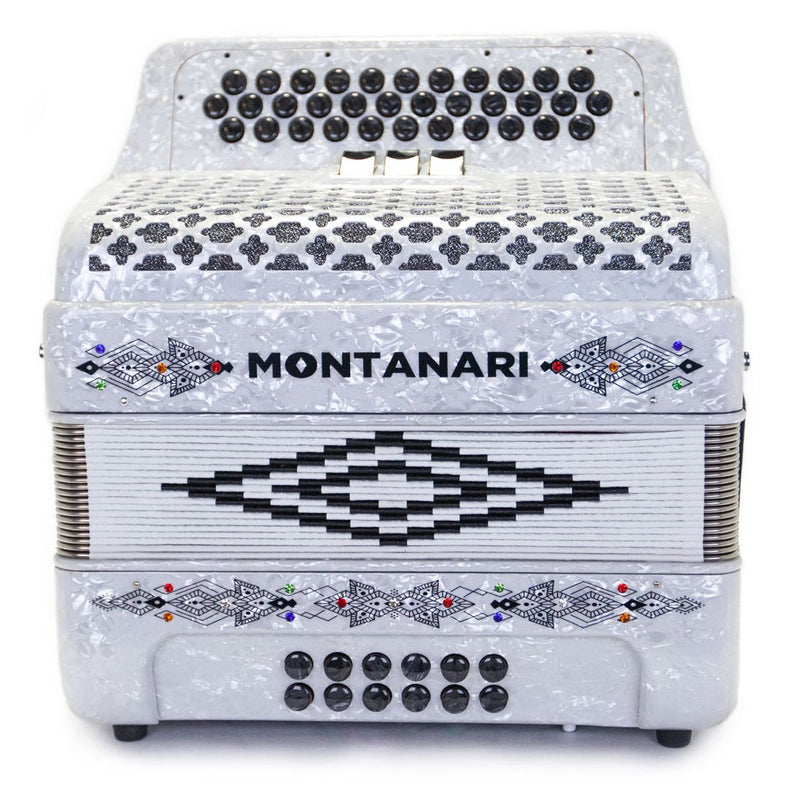 Montanari 3412 3S Accordion GCF White Accordion