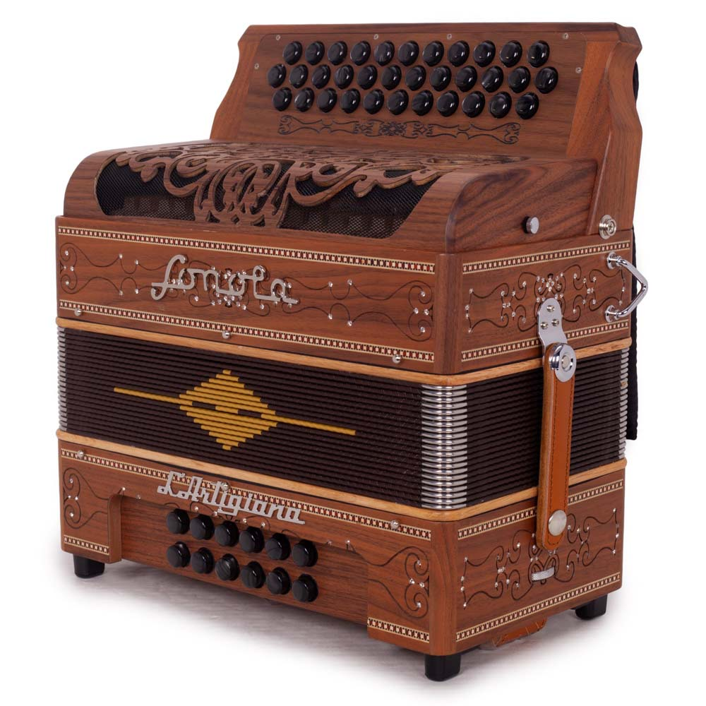 Sonola L'Artigiana Accordion No Switches 3 Reeds FBE Natural Wood with Black