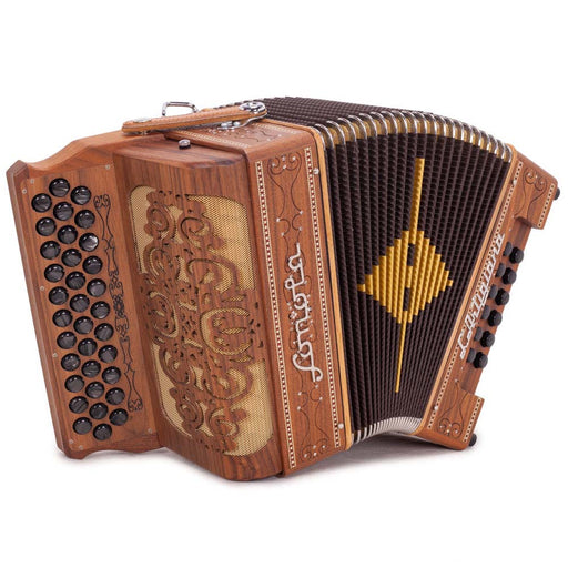 Sonola L'Artigiana Accordion No Switches FBE Natural Wood with Black