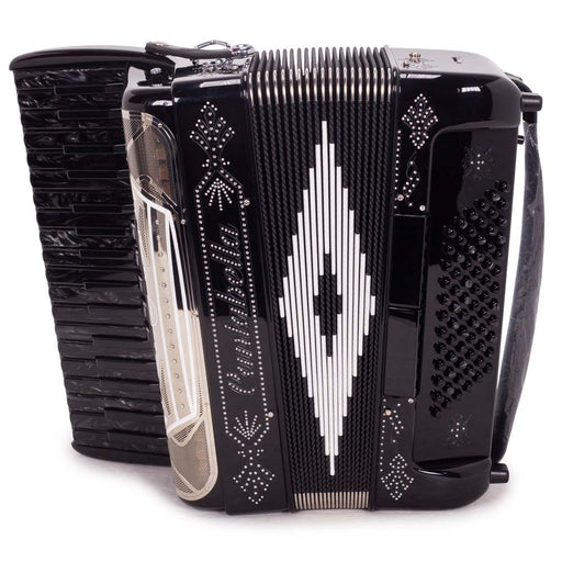 Cantabella Rey Chromatic Accordion 5 Switches Black