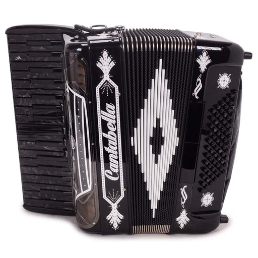 Cantabella Rey Chromatic Accordion 5 Switch Black with White