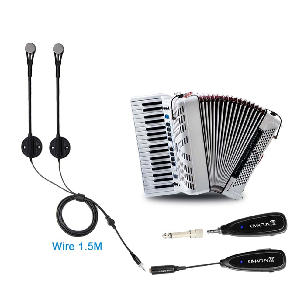 Kimafun KM-CX710 Wireless Dual Accordion Microphone System