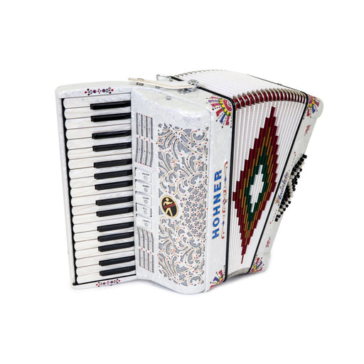 Anacleto Latino III 34/48 White Pearl With White Keys