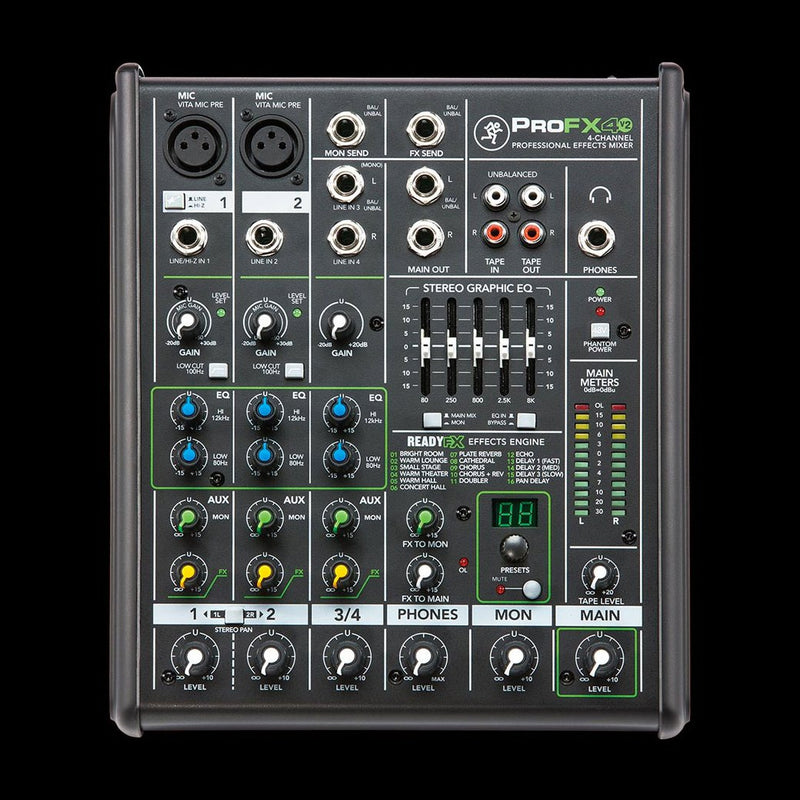 Mackie Profx4 V2 4-Channel Compact Mixer With Effects