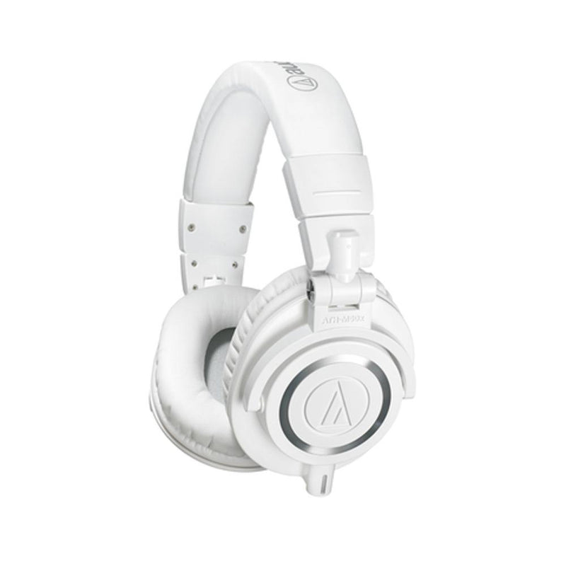 Audio Technica ATH-M50X Monitor Headphones with Disconnectable Cables - White