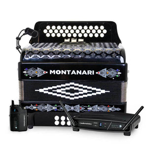 Montanari 3412 EAD Black Wireless Bundle