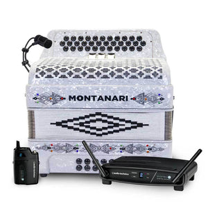 Montanari 3S FBE White with Wireless Microphone Bundle