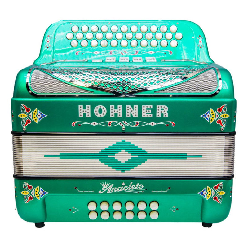 Anacleto Rey Del Norte III Accordion - GCF 5 Switches Compact Green