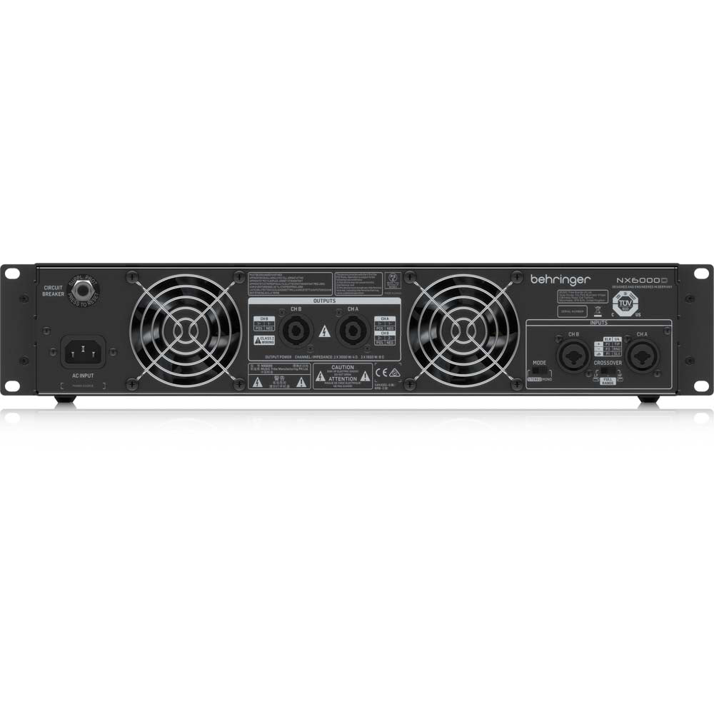 Behringer NX 6000 Ultra-Lightweight 6000-Watt Class-D Power Amplifier