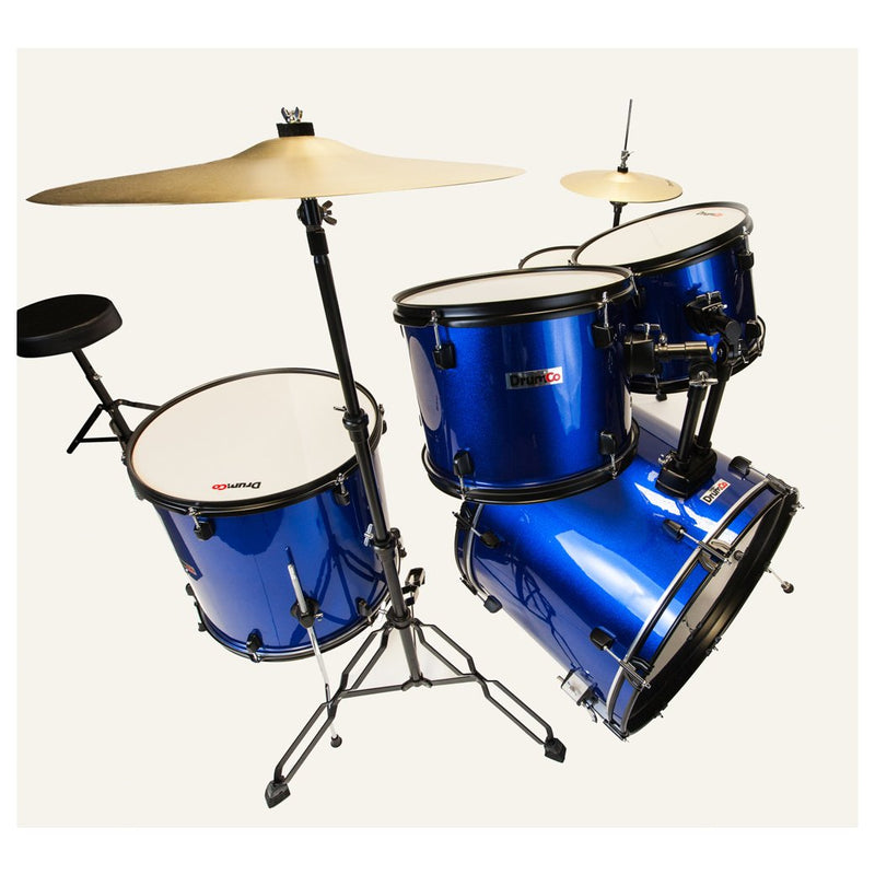 Obelix Drumco Drumset Blue with Black Hardware