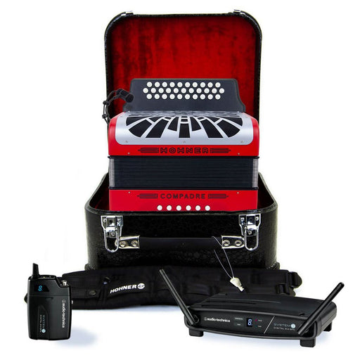 Hohner Compadre GCF Red with Gray Grill Wireless Bundle