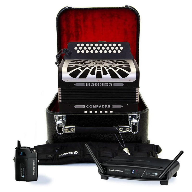 Hohner Compadre EAD Black with Gray Grill Wireless Bundle