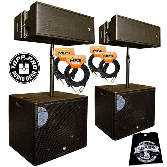 Topp Pro DJ Tour Line Array Bundle for 300 People