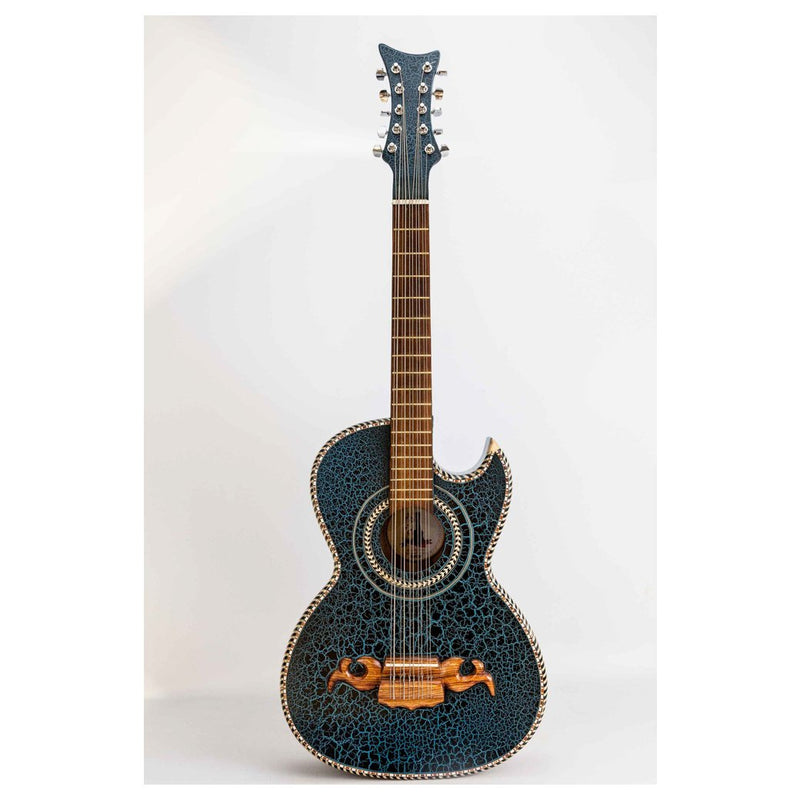 Bajo Quinto Villa Zapata Crackled Blue with Hard Case