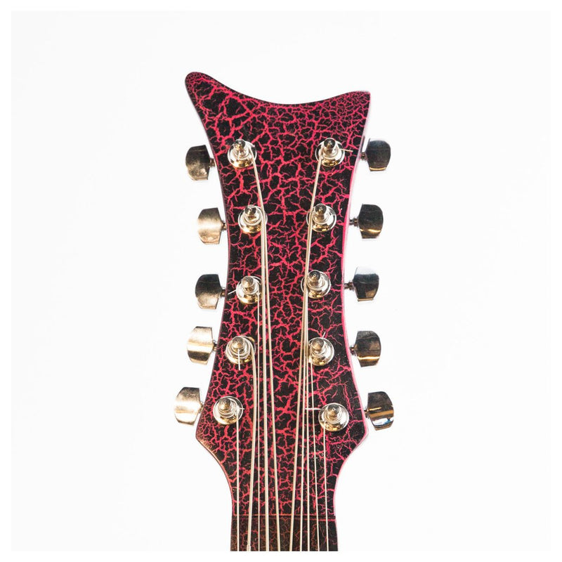 Bajo Quinto Villa Zapata Crackled Red with Hard Case